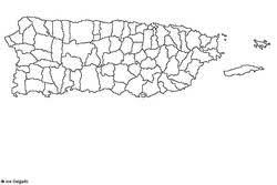 mapas de puerto rico en blanco