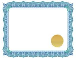 blank diploma certificates