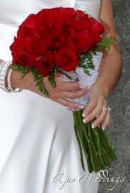 red rose bridal bouquets