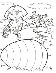 dora pictures to colour