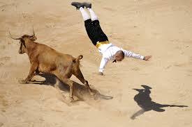 bull riding in spain