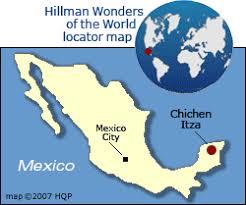 chichen itza map mexico