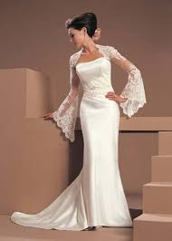 poet sleeve wedding dress