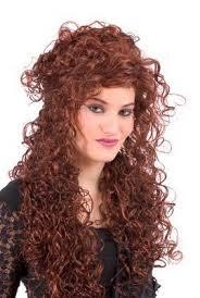 very long curly hair