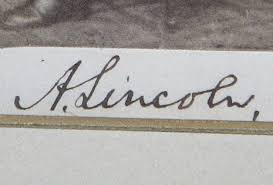 abraham lincoln signed