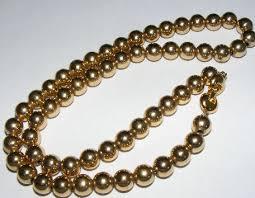 monet gold necklace