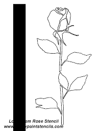 free rose stencils