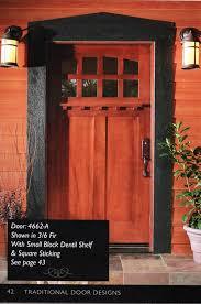 craftsman style exterior door