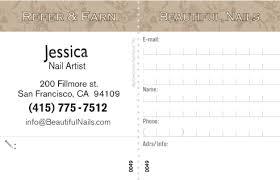 salon client card