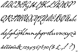 copperplate writing