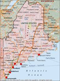 map of cities in maine