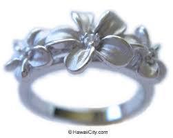 hawaiian flower ring