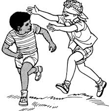 kids running clip art