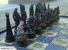 lord of the rings chess board