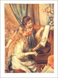 girls at piano
