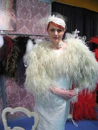 ostrich feather jacket