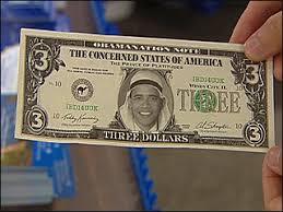 obama three dollar bill
