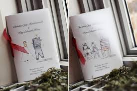 creative wedding program ideas