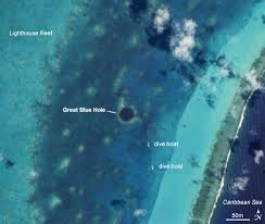 blue hole belize map
