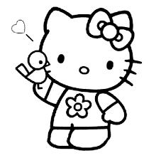 para colorear de hello kitty