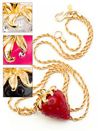 kenneth jay lane strawberry necklace