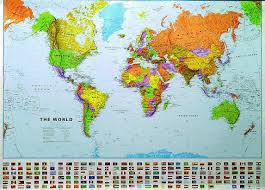 large scale world map