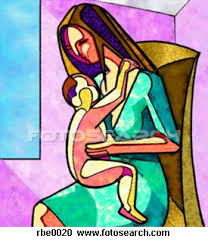 drawings of mother and child