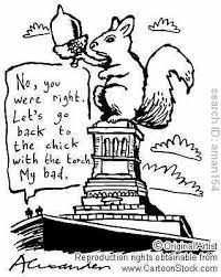 squirrel statue