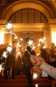 sparklers weddings