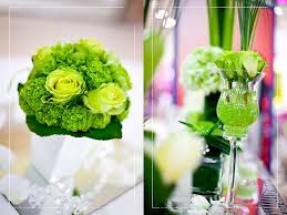 green wedding centerpiece