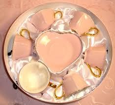 gold tea cups