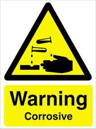 corrosive warning signs