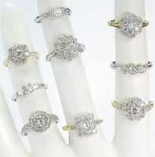 pressure set diamond rings
