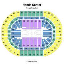 honda center seating