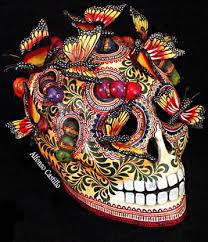 day of the dead skull art