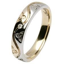 celtic wedding ring set