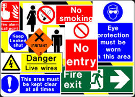 health and safety signs in the workplace