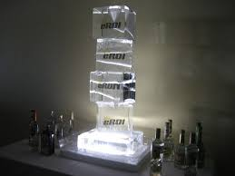ice luge drinking