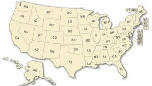 map of states of usa