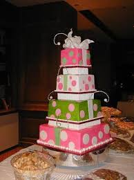 pink and green wedding cakes