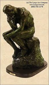 the thinker statue by auguste rodin
