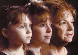 Proses penuaan pada wanita.