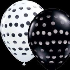 black and white balloon