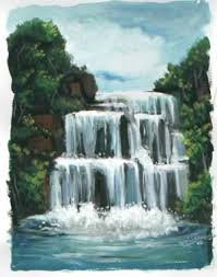 drawing waterfalls
