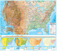 geographical map of us