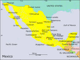 mexico tourist map