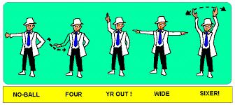 baseball umpire hand signals