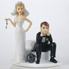 ball and chain cake toppers