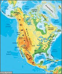 mapa fizyczna ameryki
