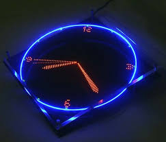 rotating led clock